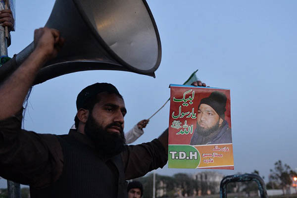Lawyer Saif-ul-Mulook sees Mumtaz Qadri supporters as potential threats to his life. Aamir Qureshi—AFP