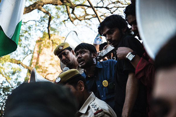 Kumar addresses students and activists in New Delhi, March 15. Chandan Khanna—AFP