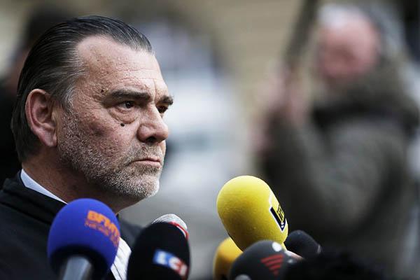 Frank Berton, the lawyer for Salah Abdesalam. Matthieu Alexandre—AFP