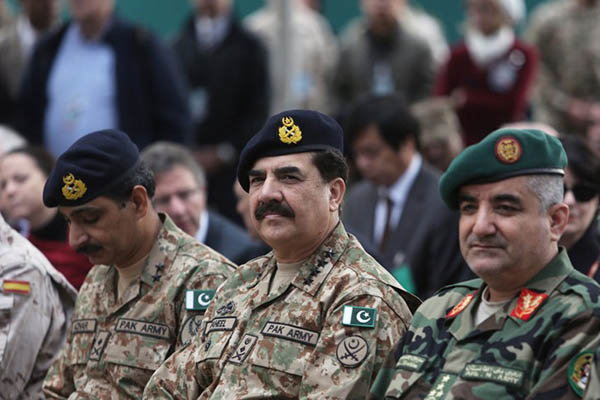 Pakistan Army chief Gen. Raheel Sharif in Kabul earlier this year. Rahmat Gul—AFP