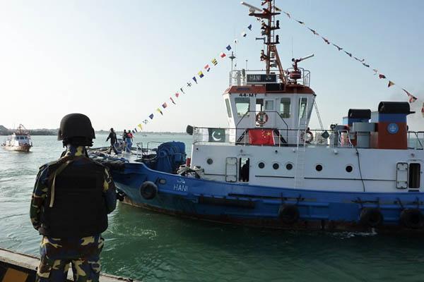 Pakistan Navy stands guard at Gwadar port. Sarah Titterton—AFP