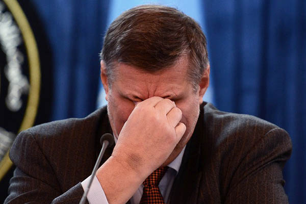 U.N. Special Representative to Afghanistan Jan Kubis at a press conference on civilian casualties in Kabul in 2014. Wakil Kohsar—AFP