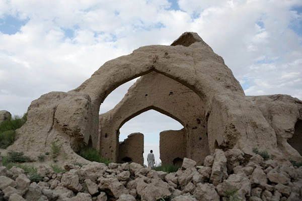 The ruins of Sufi mystic Rumi's house in Afghanistan. Farshad Usyan—AFP