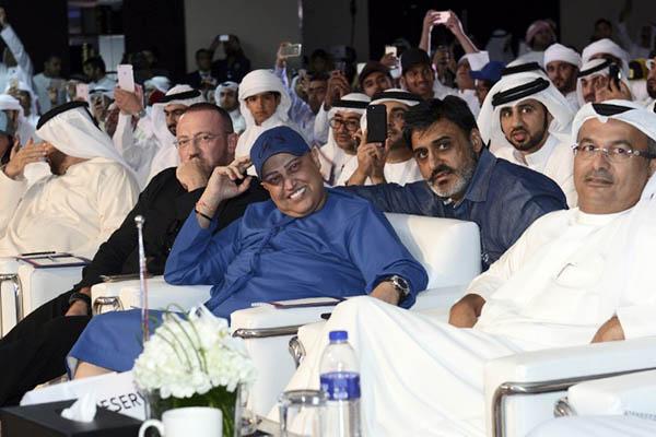 Dubai-based Indian businessman Balwinder Sahani attends the car registration plate auction on Oct. 8. AFP