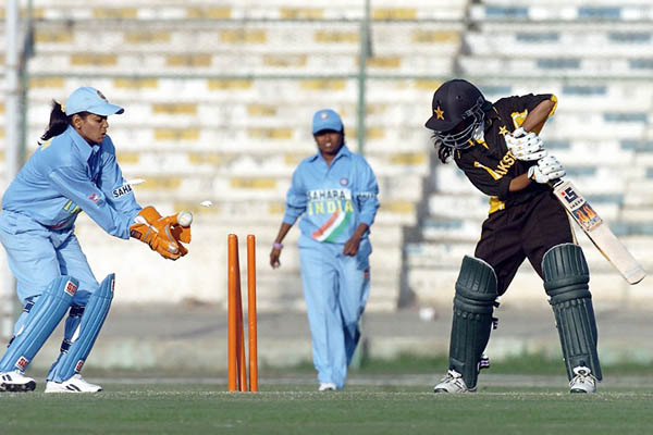 File Photo of Indian and Pakistani players at the Women's Asia Cup, 2005. Rizwan Tabassum—AFPFile Photo of Indian and Pakistani players at the Women's Asia Cup, 2005. Rizwan Tabassum—AFP