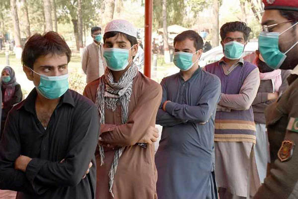 Citizens wearing face masks as part of social distancing guidelines