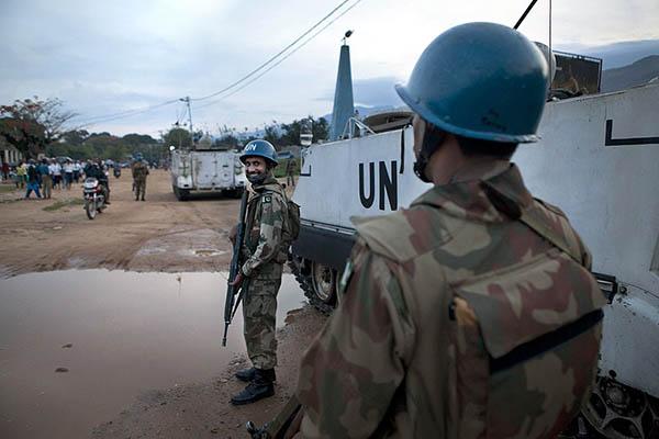 Pakistani peacekeepers in Uvira, South Kivu